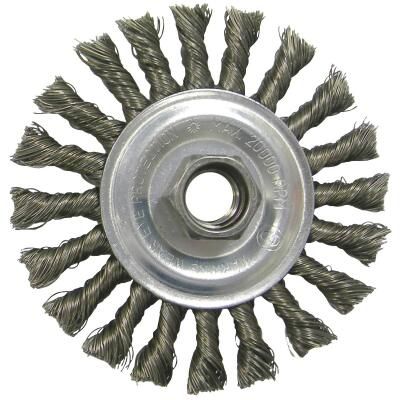 Weiler Vortec 4 In. Twisted/Knotted 0.014 In. Angle Grinder Wire Wheel