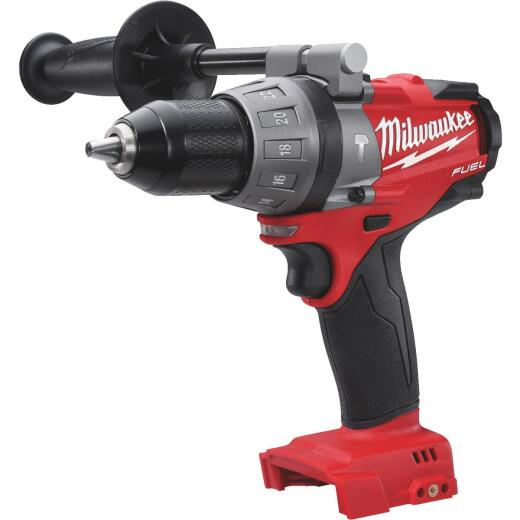 Milwaukee M18 FUEL 18 Volt Lithium-Ion Brushless 1/2 In. Cordless Hammer Drill (Bare Tool)